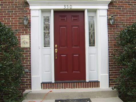 Paint For Exterior Doors Front Door After Omni Construction Company Apex Nc Apex Cary And Counties