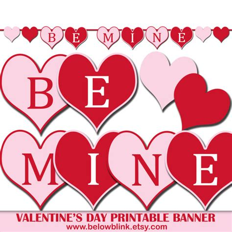 free printable valentine party decorations be mine valentine s day banner printable photo prop