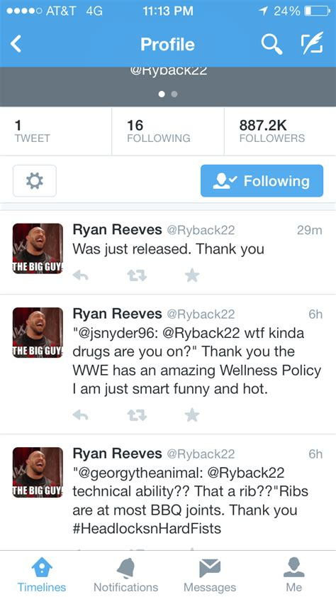 ryback claims he has been released by the wwe wrestlezone
