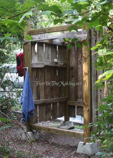 outdoor showering free outdoor shower wood plans diy wood