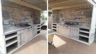 meuble de cuisine en palette de bois mzaol
