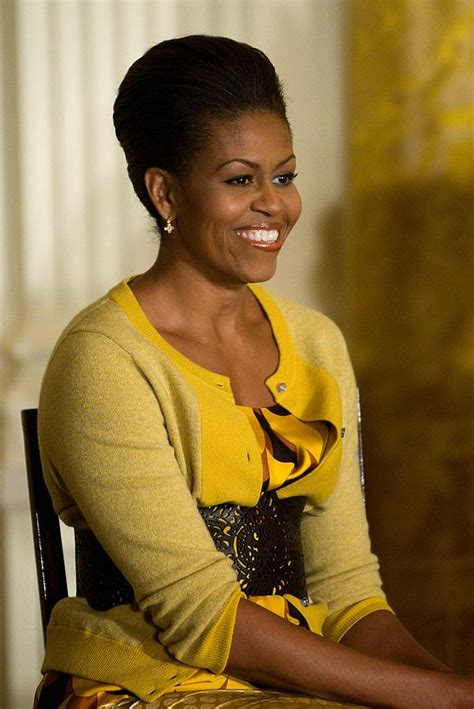 michelle obama j crew michelle obama wearing a j crew photograph by everett