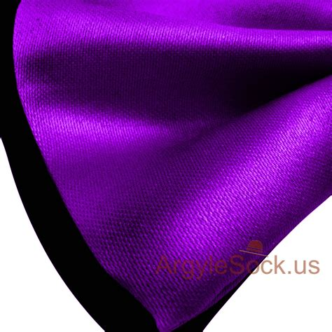 Shiny Purple by Shiny Purple Black Bow Tie With Elastic Back For