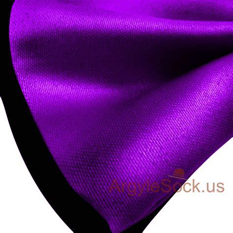 Shiny Purple shiny purple black bow tie with elastic back for