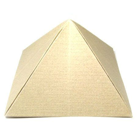 How To Fold Paper Into A Pyramid - how to make the great origami pyramid http www origami