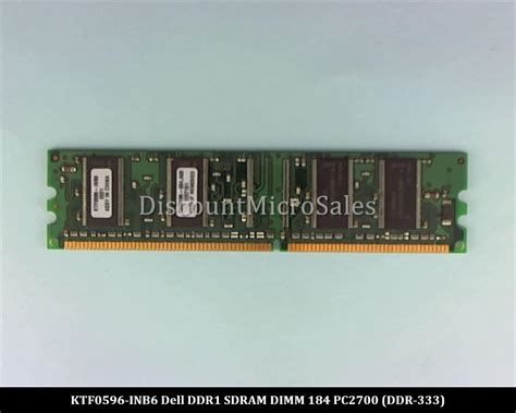 Memory Ram Ddr1 128mb Pc 2700 For Pckomputerdesktop dell ktf0596 inb6 ddr 128mb pc 2700 non ecc 333mhz ram memory