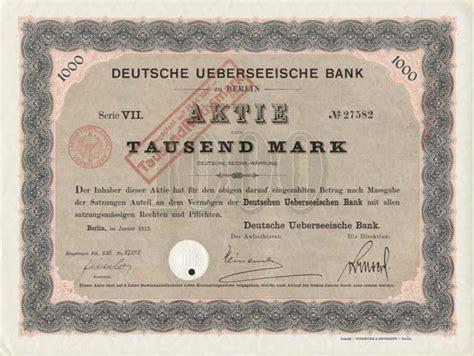dt bank aktie hwp deutsche ueberseeische bank