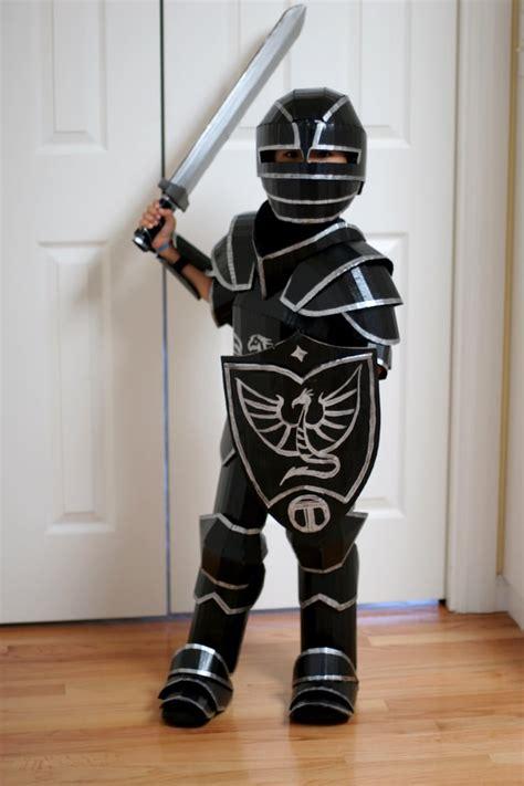 fantastical cardboard costume diy turns boxes  knight