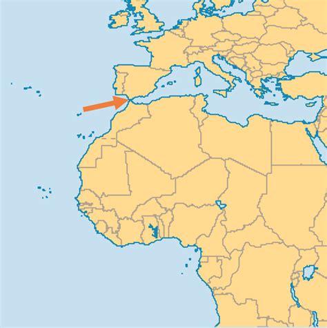 strait of gibraltar map gibraltar map