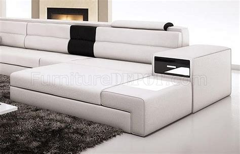 polaris sofa pin vig furniture polaris italian leather sectional sofa