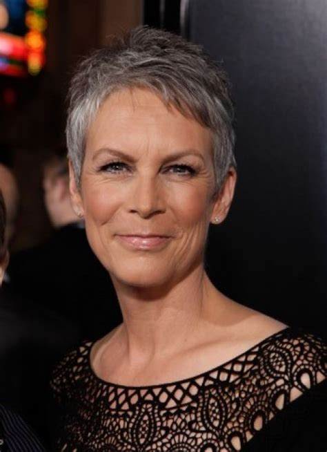 what hair colour was jamie lee curtis in her younger days short hair over 40 jamie lee curtis gray crop style