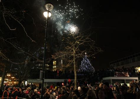gallery stevenage town centre christmas lights switch on