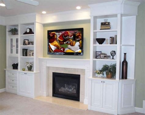 Built In Cabinets Around Fireplace by Built In Shelves Around Tv Built In Shelving Tv
