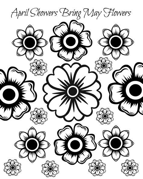 Coloring Pages May Flowers | free printable may flowers adult coloring page kids