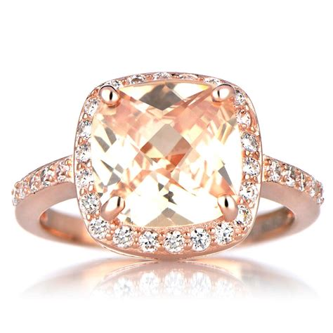 eheringe rosegold gold cushion cut engagement rings beautiful ring