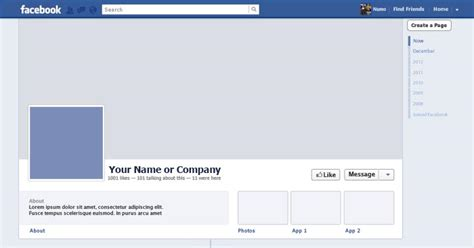 best photos of facebook timeline profile template blank