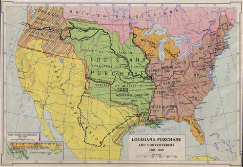 map of the united states louisiana purchase 1803