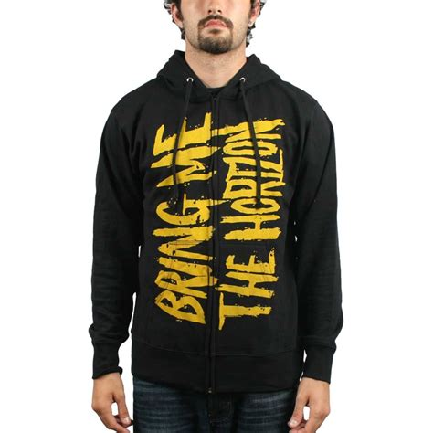 Zipper Bmth New Logo bring me the horizon bmth logo zip hoodie hoodie in black