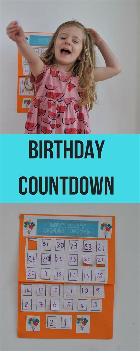how to make a countdown calendar 25 best ideas about birthday countdown on