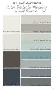 Home Decorating Color Palettes Readers Favorite Paint Colors Color Palette Monday Colorpalette Paintcolor Home