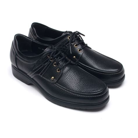 mens comfort black cow leather casual shoes