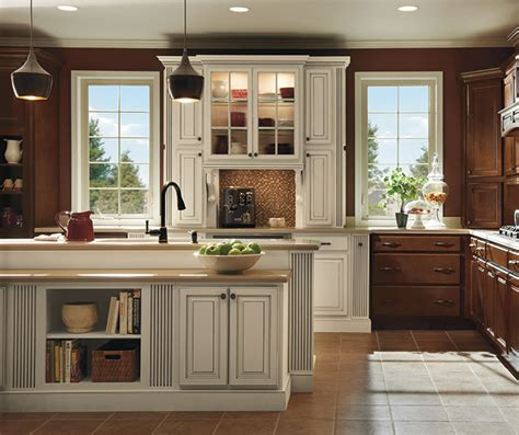 Dark Maple Kitchen Cabinets With Ivory Accents Homecrest Ivory Colored Kitchen Cabinets