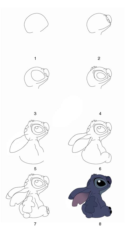 how to draw doodle characters step by step draw stitch step by step by grayalien on deviantart