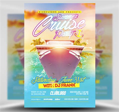 Summer Cruise Party Flyer Template Flyerheroes Cruise Flyer Template Free