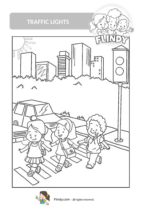 traffic coloring pages