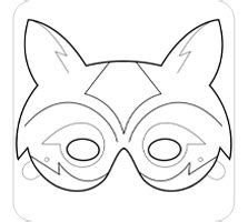 fox mask coloring page printable fox mask template quotes