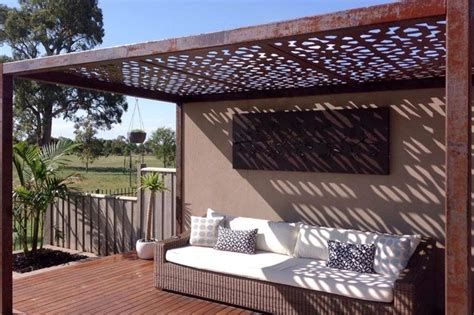 Patio Awnings Melbourne by Laser Cut Metal Pergolas Eclectic Patio Melbourne