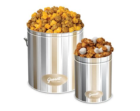 Garrett Popcorn Plain 1 Gallon Tin merry bright bundle mix it up this with a 1 gallon tin of our handcrafted