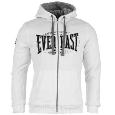Hoodie Logo Everlast 1 everlast mens fleece lined hoody hooded zip fastening pockets sleeve top ebay