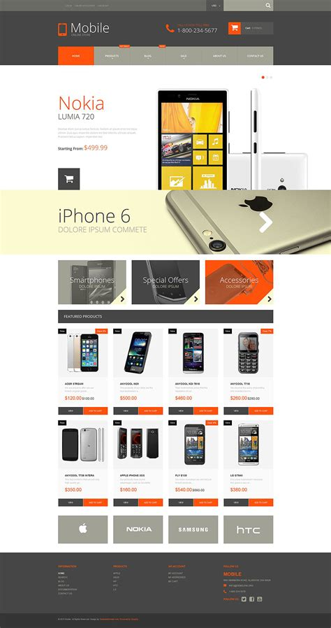 mobile phones shopify theme 52932