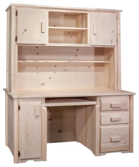 Wooden Desk With Hutch Wooden Desk With Hutch Rustic Desks And Hutches By Shopladder