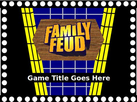Family Feud Game Powerpoint Template The Highest Quality Family Feud Template Free