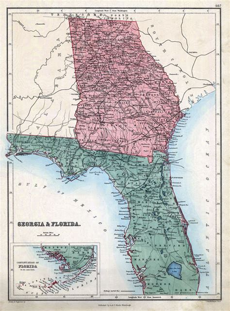 Florida Georgia Map by Map Of Georgia And Florida Karmaboxers