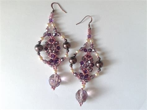 Swarovski Handmade Earrings - handmade earrings of swarovski pearls and bicone ayu