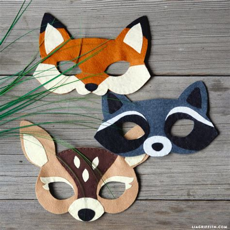 woodland animal mask templates felt woodland masks lia griffith