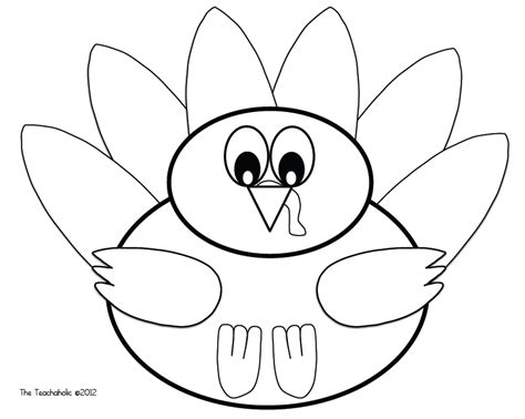 hand turkey drawing template festival collections