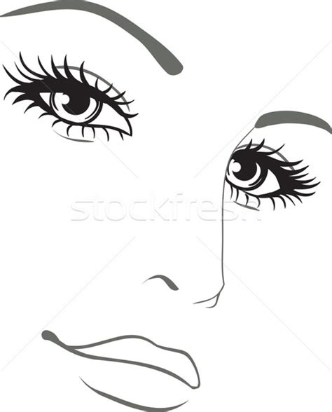 beautiful woman face vector portrait vector illustration