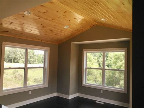 dining room  knotty pine ceiling built  armstrong