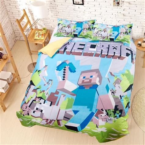 minecraft bedding for kids 4 styles minecraft eat sleep cartoon bedding duvet cover