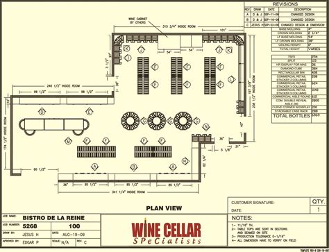Floor Plans With Dimensions by Commercial Wine Racks Bistro De La Reine