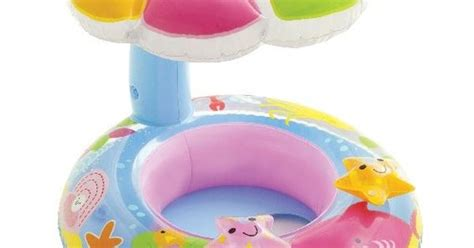 Intex 56584 Baby Float With Kanopi intex fish and friends baby float vinyls smooth and smooth legs