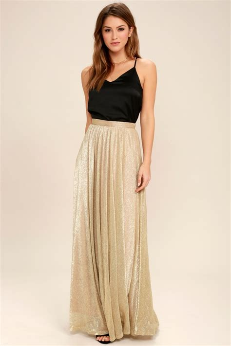 Mozza Maxi Exclusive Gold chic gold skirt maxi skirt metallic skirt metallic maxi skirt 59 00
