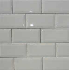 biscuit bright beveled subway tile 3x6 the home
