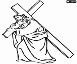 coloring pages of jesus carrying the cross bible new testament coloring pages printable games 3