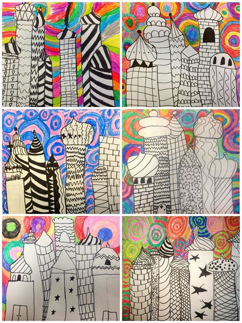 architecture lessons art eat tie dye repeat 2nd grade russian architecture