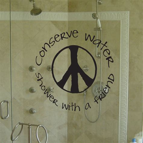 Save Water Shower With A Friend by Conserve Water Shower With A Friend Wall Decal Sticker Graphic